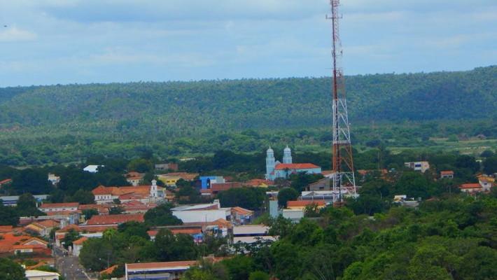 Vista parcial da cidade de União, antiga vila do Estanhado.