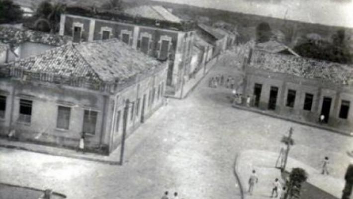 Rua Taumaturgo de Azevedo em registro de primeira metade do século XX. Autoria desconhecida.